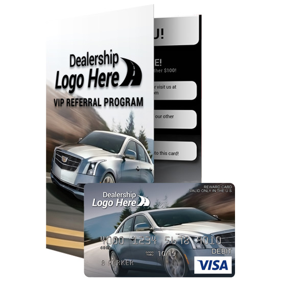 Custom Branded Visa Prepaid Reward Card and Carrier
