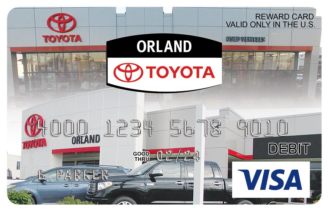 Orland Toyota Visa