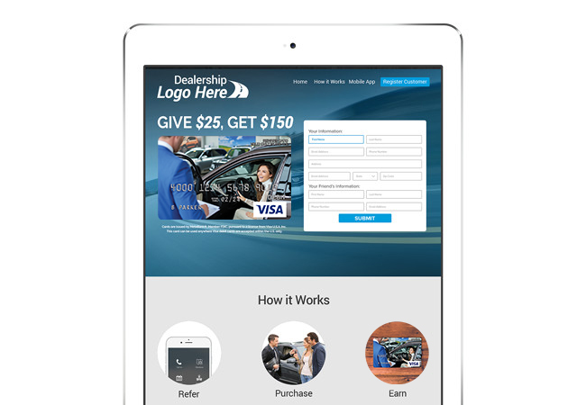 Auto Dealership Lead Generation Lead Generating Landing Page