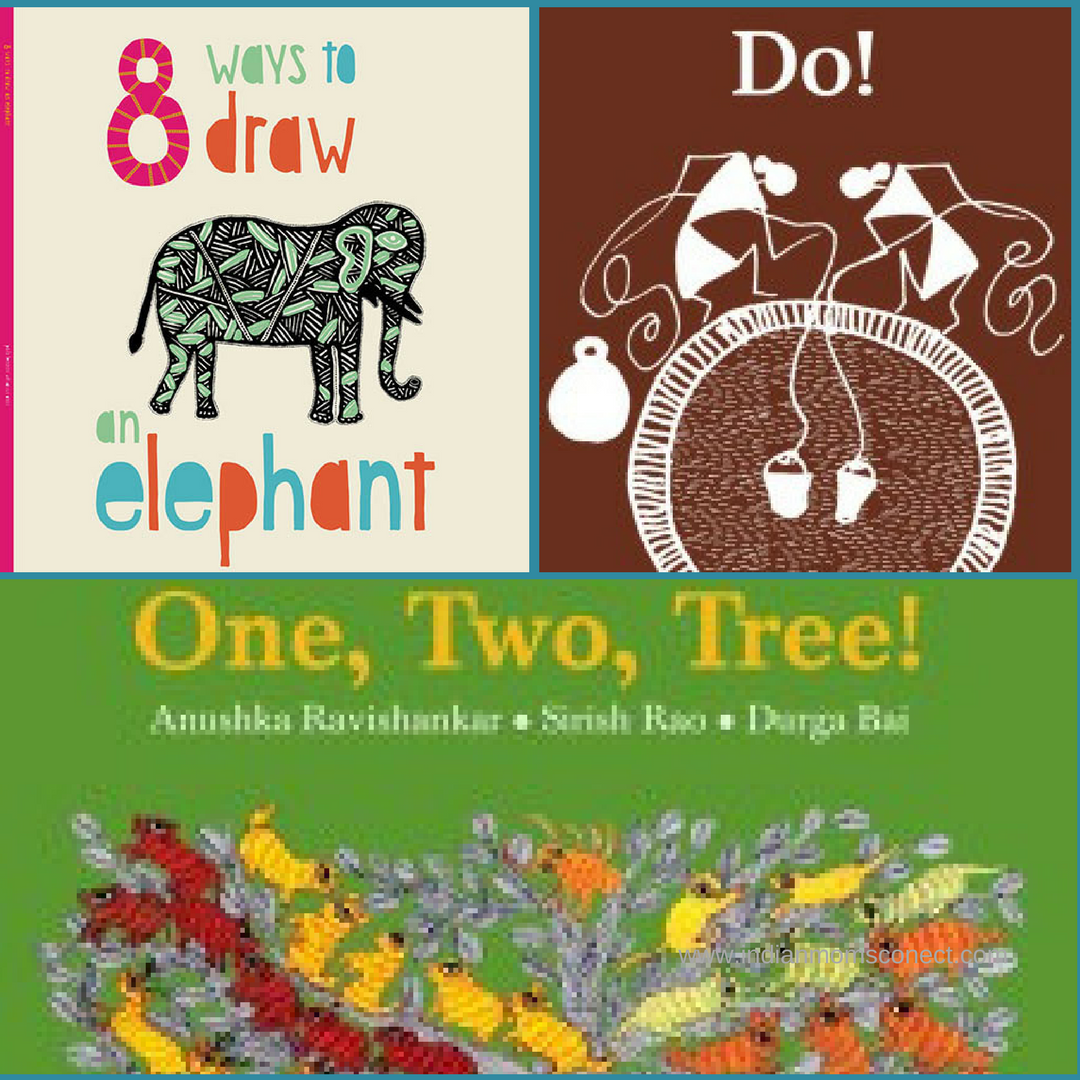 Folk Art Book Bundle -  One, 8 ways to draw an elephant Two Tree, Do!