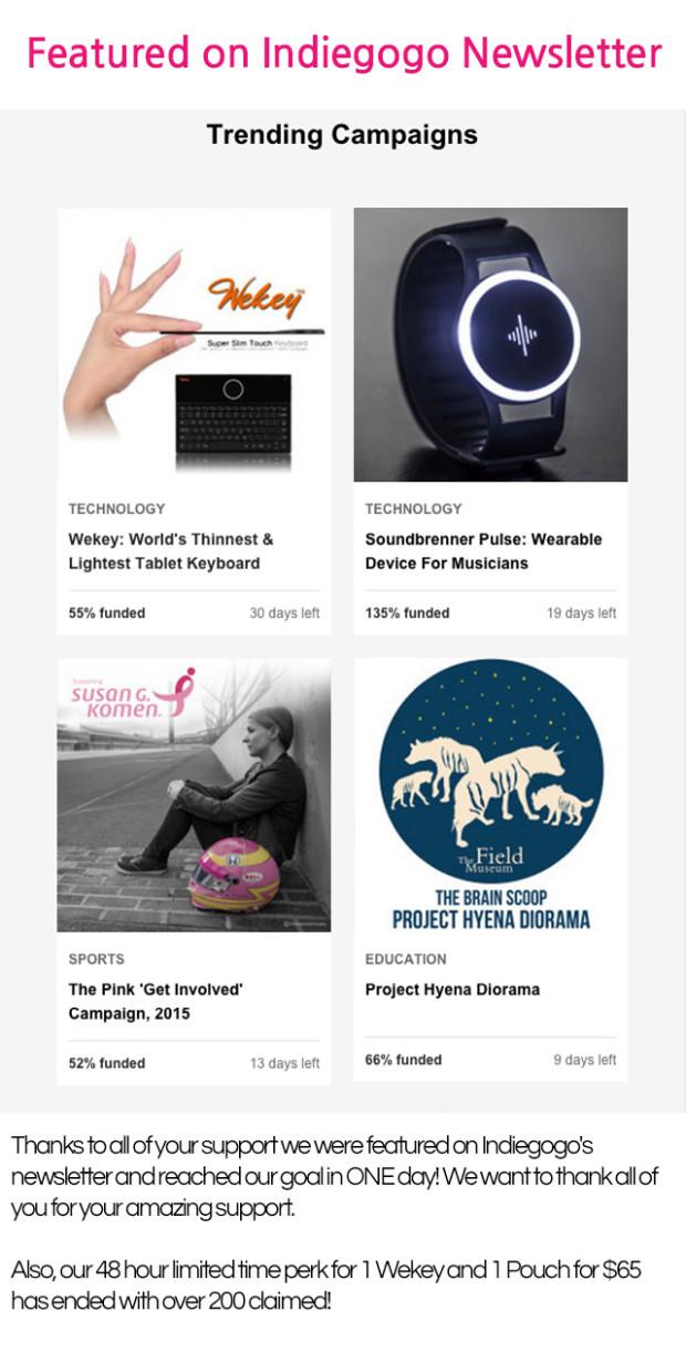 Wekey - Worlds Thinnest, Lightest Tablet Keyboard | Indiegogo