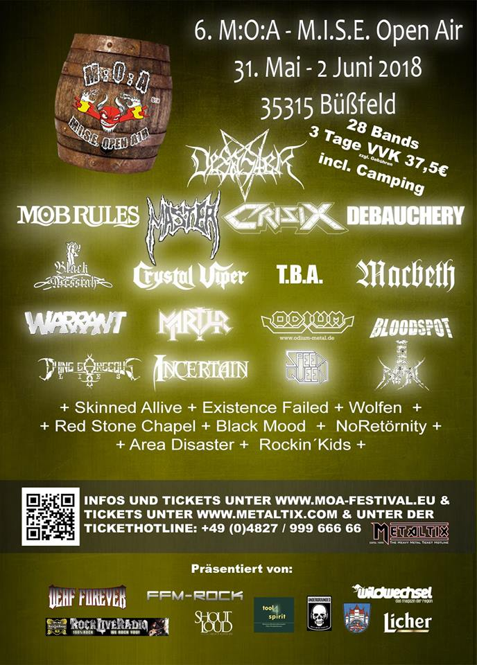 MARTYR confirmed for M:O:A - MISE Open Air 2018