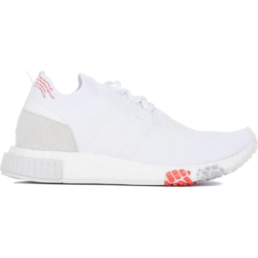 47e147229 adidas Originals  NMD Racer Primeknit - White White Trace Scarlet ...