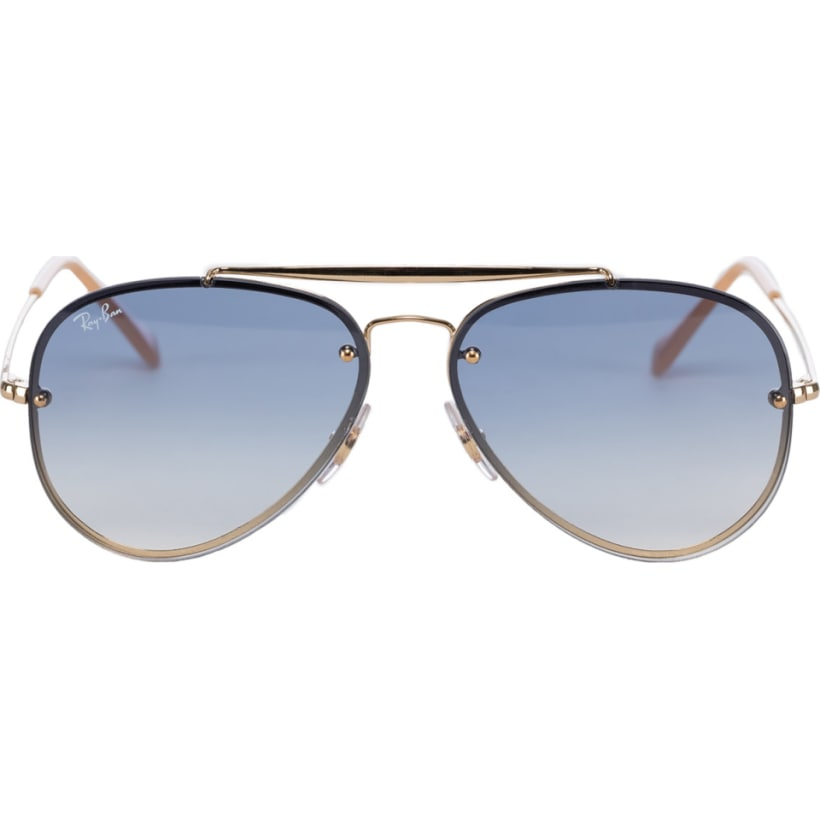 949dfbab018e8 Ray-Ban  Blaze Aviator Sunglasses - Gold Light Blue Gradient ...