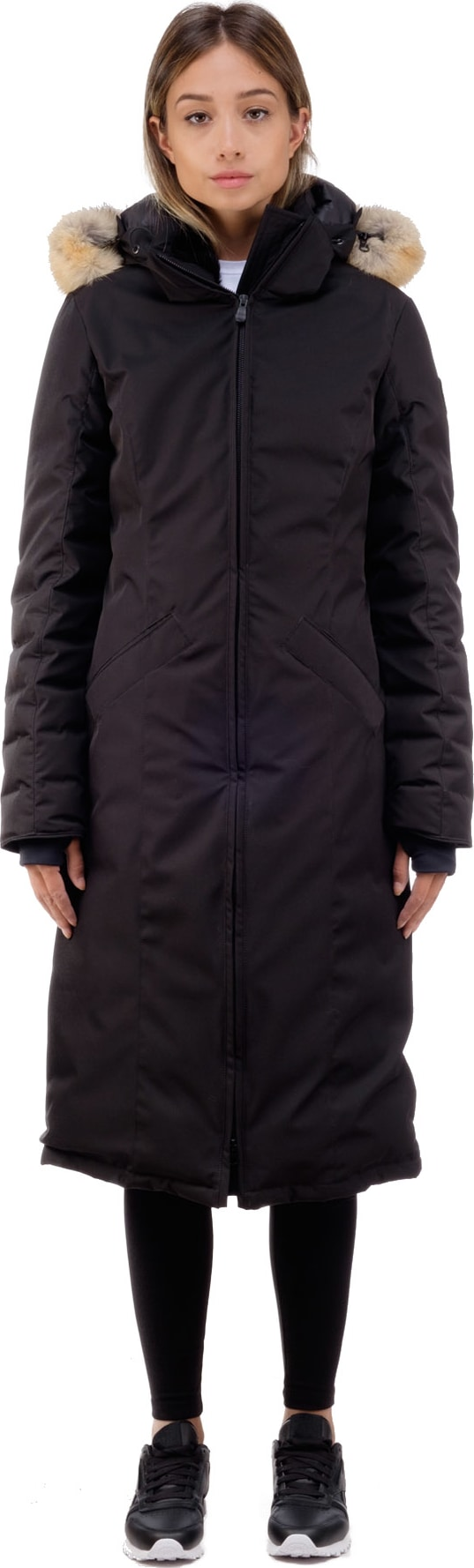 canada goose® elrose parka black label black herringbone