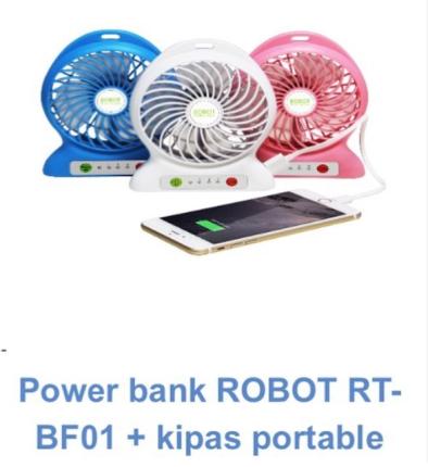 Kipas Robot + power bank