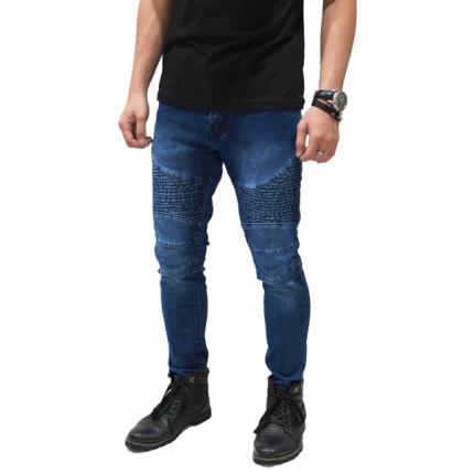 Celana Biker Jeans Maskulin Dark Blue