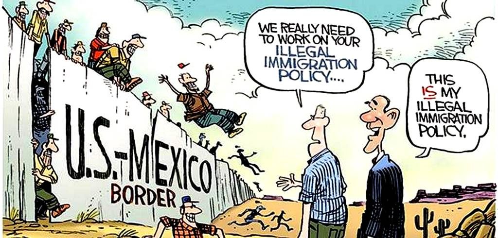 Cartoon Obama Will Not Enforce Immigration Laws