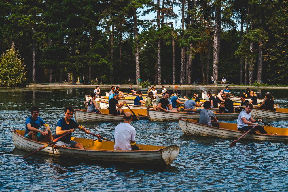 Sportif Bois de Boulogne Courses de barque