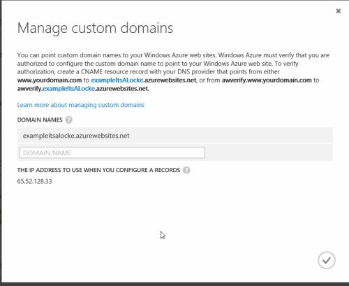 azure - manage domains