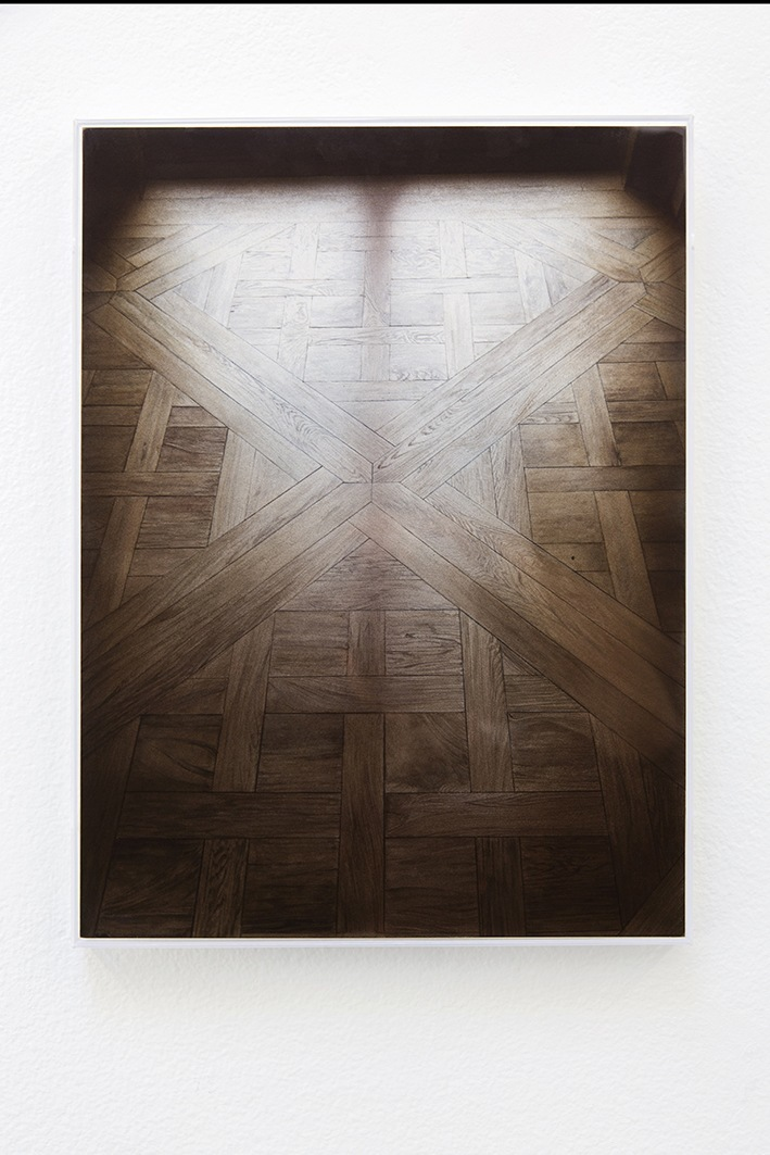 Untitled (Tunisian-Parquetry), watercolor on paper - Jackson Slattery