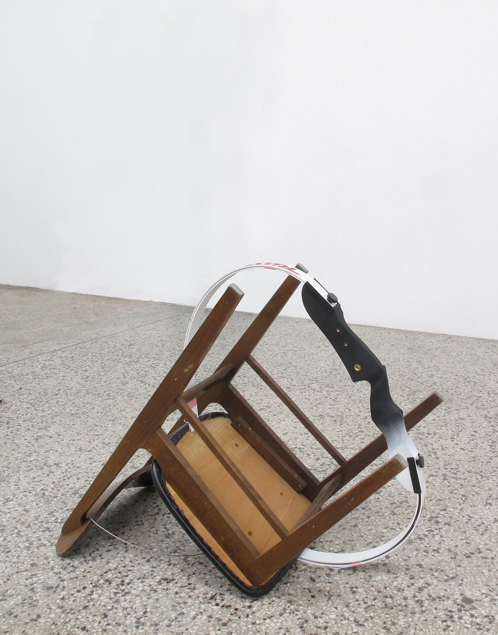 Untitled, chair and modified compound bow - 2012 - Jackson Slattery