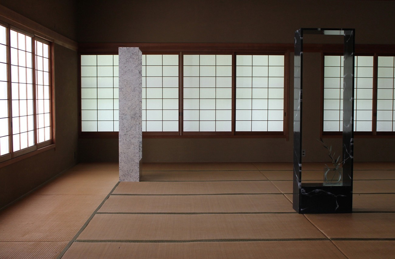 Monument Within a Sculpture, fabricated tatami room and sculptures, Setouchi Triennale - 2013 - Jackson Slattery