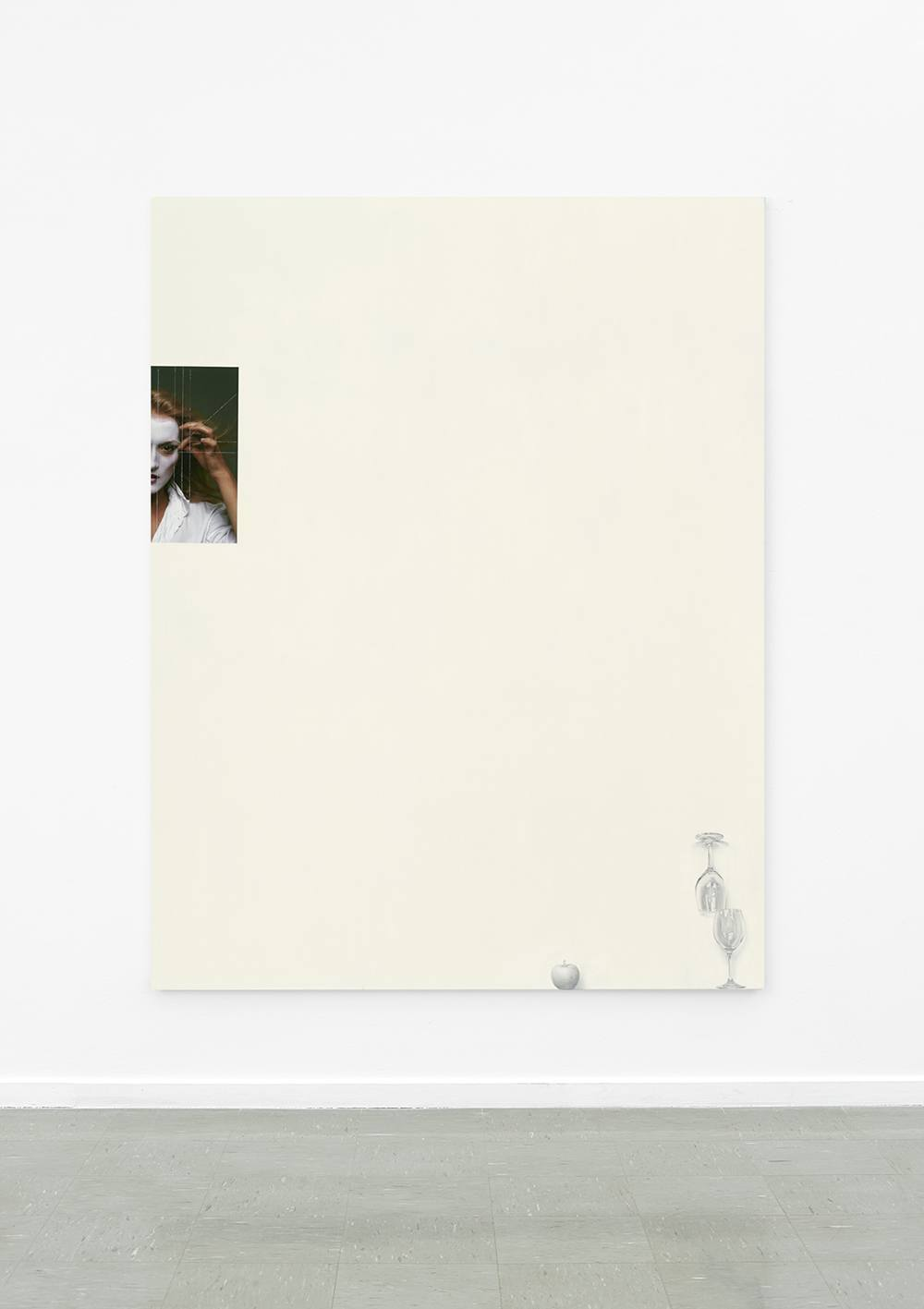 Untitled (Every Picture), oil and collage on linen - 2015 - Jackson Slattery