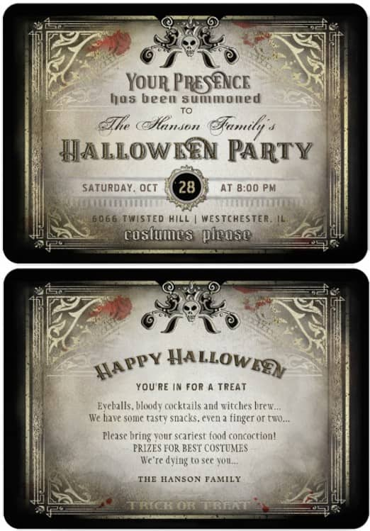 Your Presence has been Summoned Halloween Party Invitation