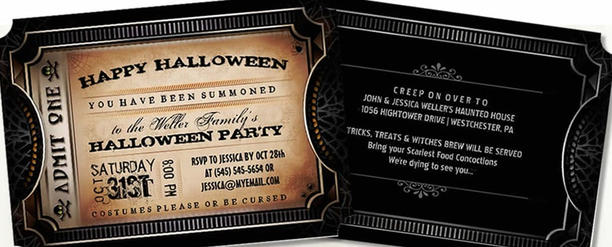 Halloween Invitations | Julie Alvarez Designs