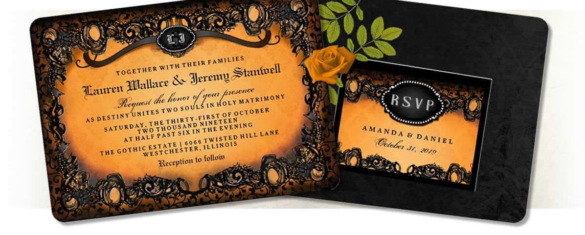 Halloween Wedding Invitations Julie Alvarez Designs