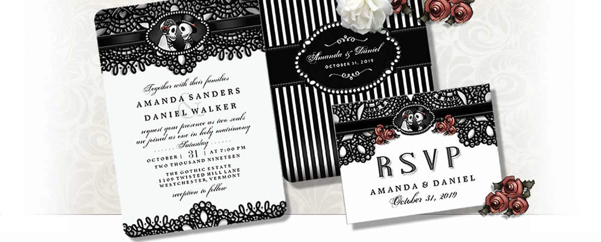 Halloween Wedding Invitations – Elegant Halloween Wedding Invitations