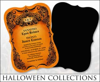 halloween wedding invitation collections
