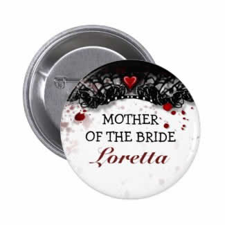 halloween mother of the bride button pin