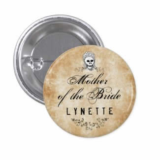 mother of bride gothic brown wedding button pin