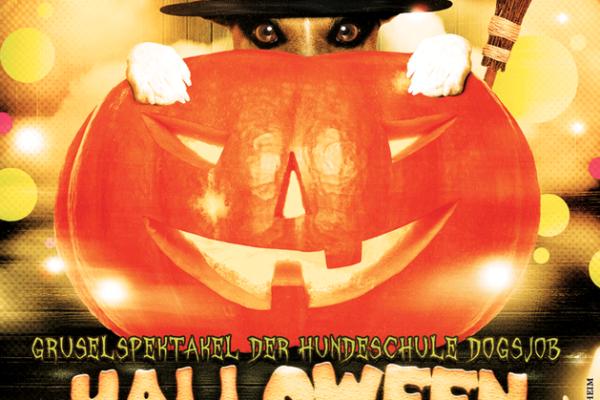 Flyer Halloween Mantrailing DOGSJOB Karlsruhe Mühlacker Ötisheim