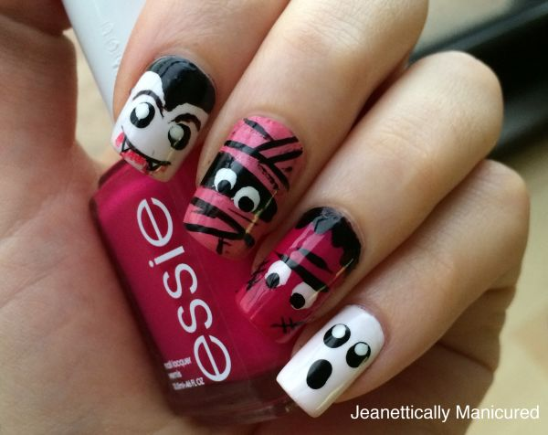 adorable monster nails