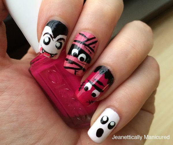 cute halloween monster mani