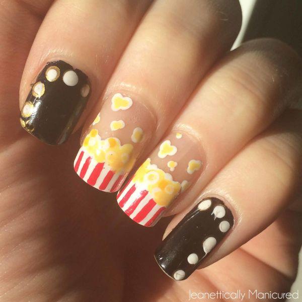 films nails popcorn