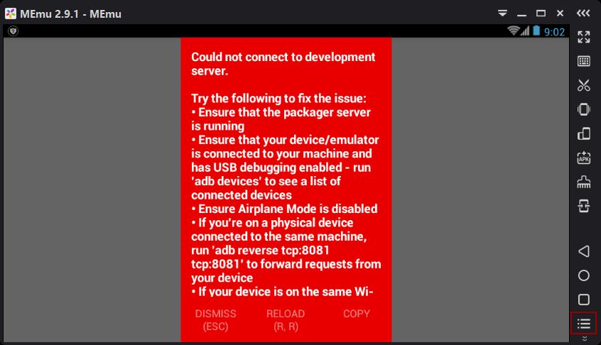 React Native RedBox Error Message