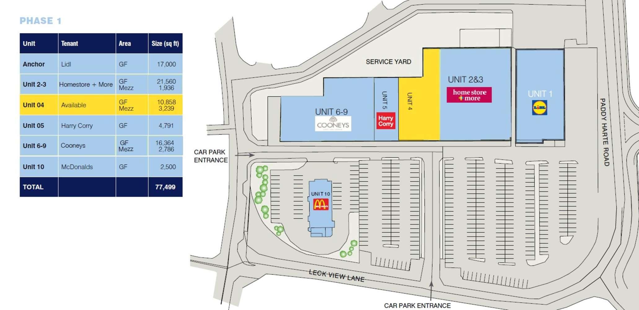 Retail Letterkenny,  - Unit 4, Phase 1, Letterkenny Retail Park - 9646707