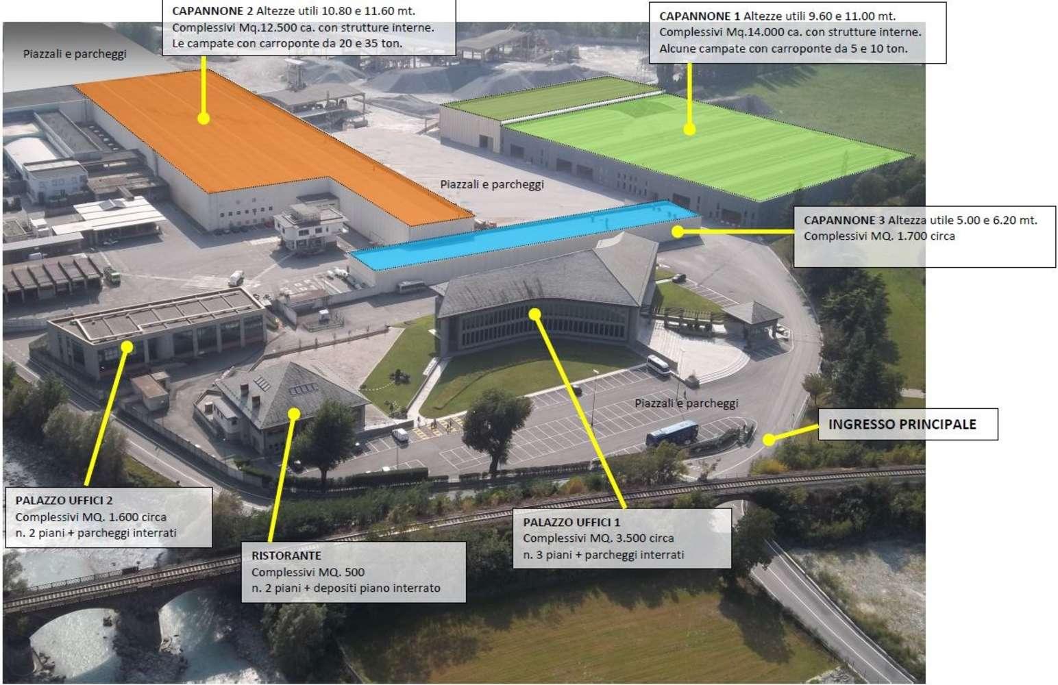 Magazzini industriali e logistici Issogne, 11020 - Capannoni logistici e uffici Aosta - 10033596