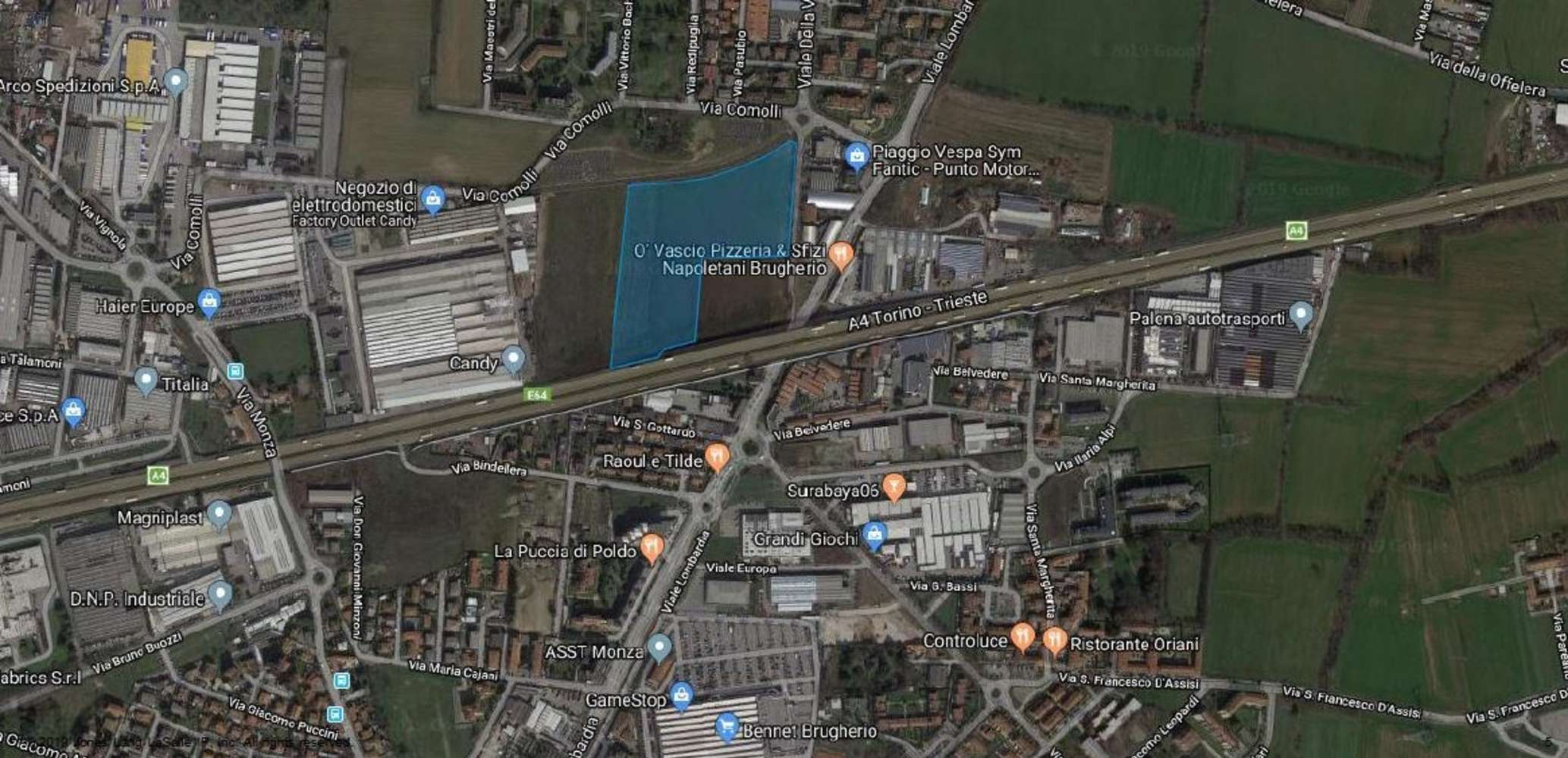 Magazzini industriali e logistici Brugherio, 20861 - Area Brugherio - 10366745