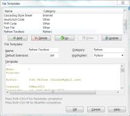 File Templates Dialog