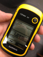 Garmin eTrex 10 - Notice the Note field