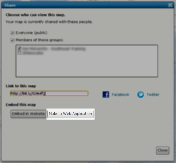 Make Web Application Button