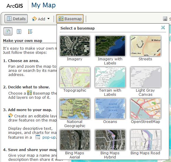 Select Basemap
