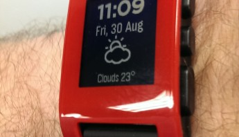 pebble wrist watch