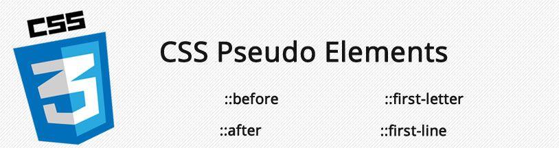 CSS pseudo elements