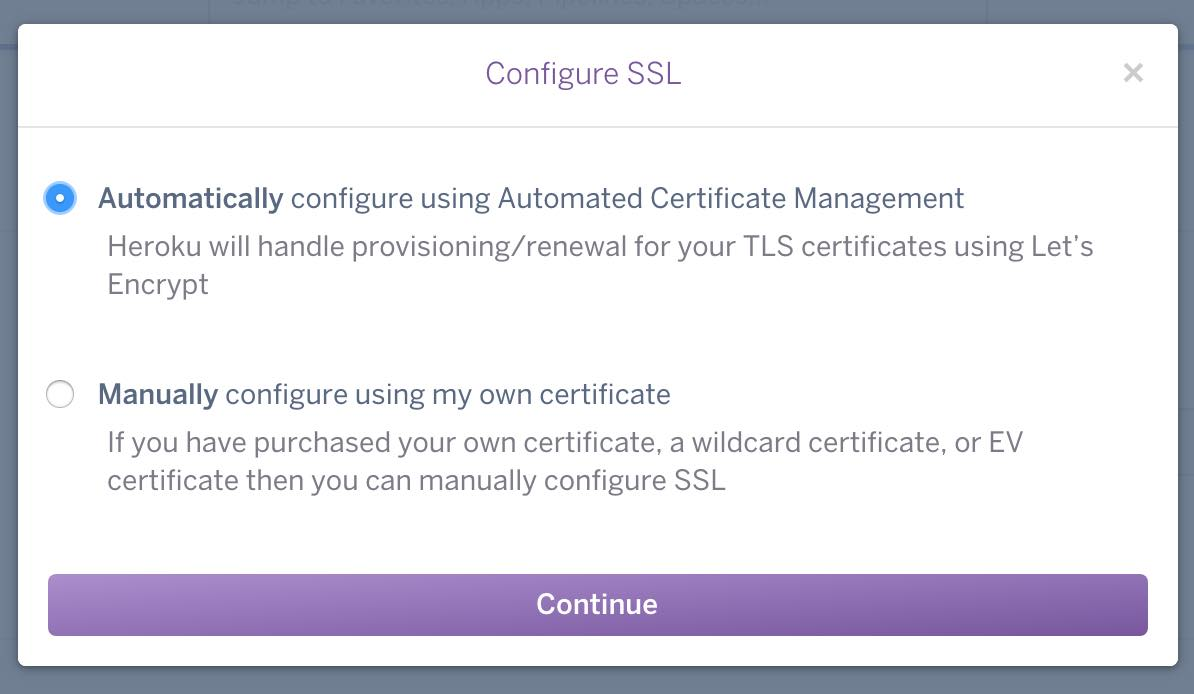 Setting up a lets encrypt certificate on heroku josh wright by josh wright on september 2016 in tips 1betcityfo Image collections