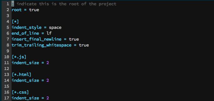 Unificando estilos de programación con EditorConfig