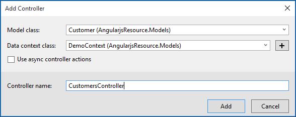 Web API Scaffolding