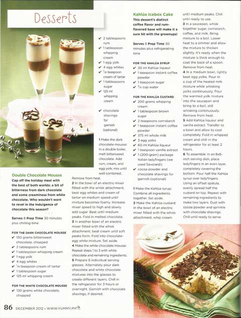 Yummy Magazine Double Chocolate Mouse