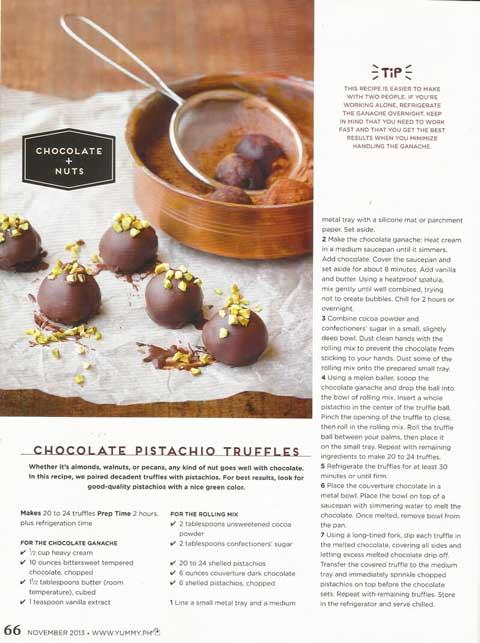 Yummy Magazine Chocolate Pistachio Truffles