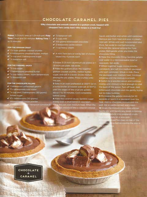 Yummy Magazine Chocolate Caramel Pies