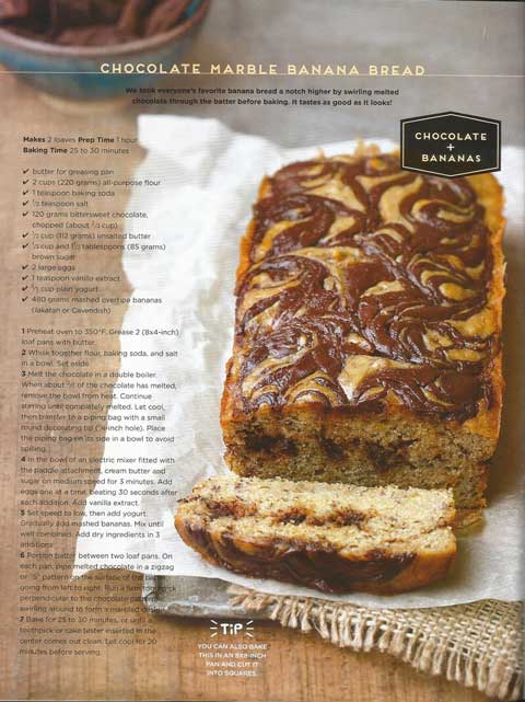 Yummy Magazine Chocolate Marble Banana Bread