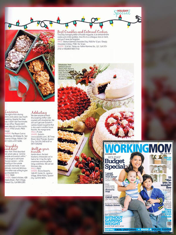 Working Mom Magazine (Nov 2009)