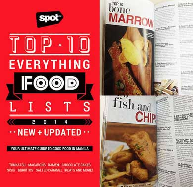 The SPOT.ph Top 10 Everything Food Lists