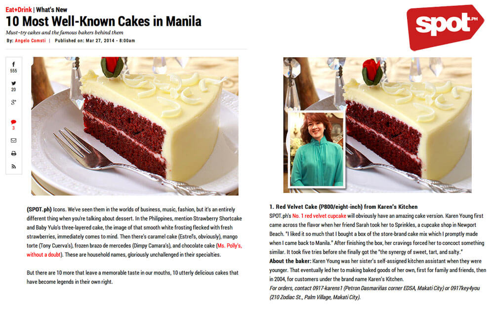 SPOT.PH 10 Most Well-Known Cakes in Manila (Mar 2014)