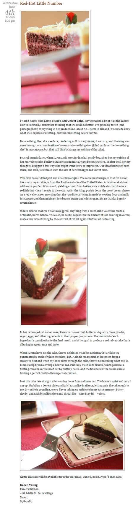 Red Velvet Cake (Jun 2008)